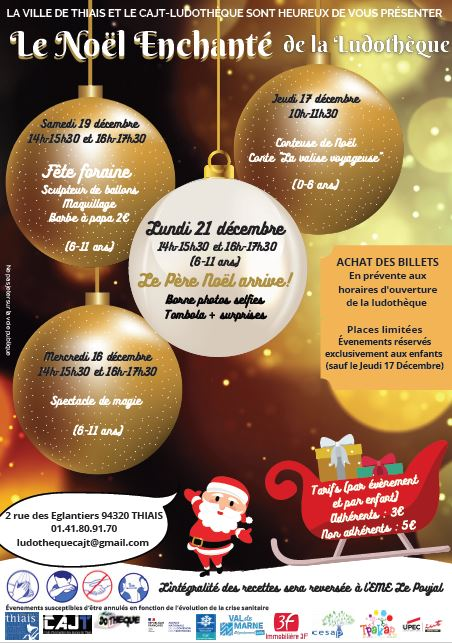 Flyer - CAJT Noel a la ludotheque 2020
