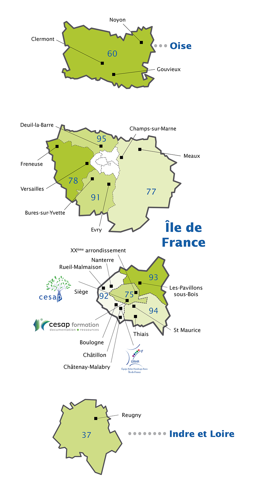 Carte Implantation CESAP  2019